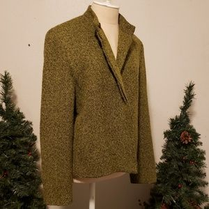 Military style tailored wool jacket